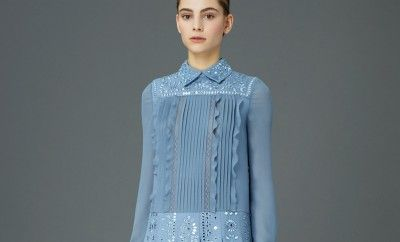 Valentino-pre-fall-2015-pleated-shirt-dress