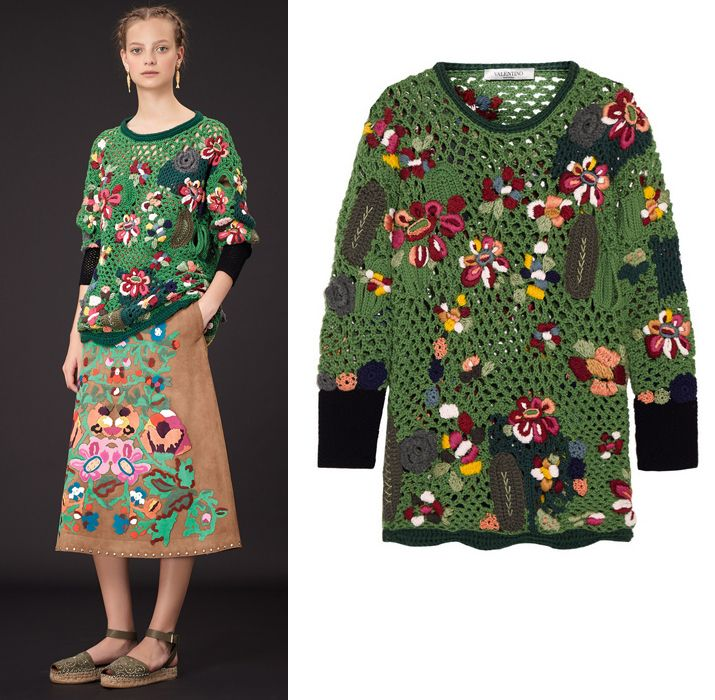Valentino-resort-2015-embroidered-crocheted-wool-sweater