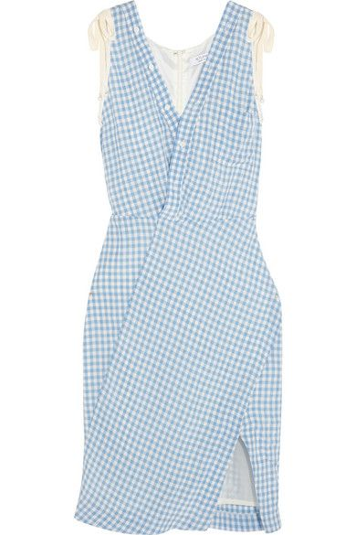 Portia gingham crinckled-poplin dress available at NET-A-PORTER
