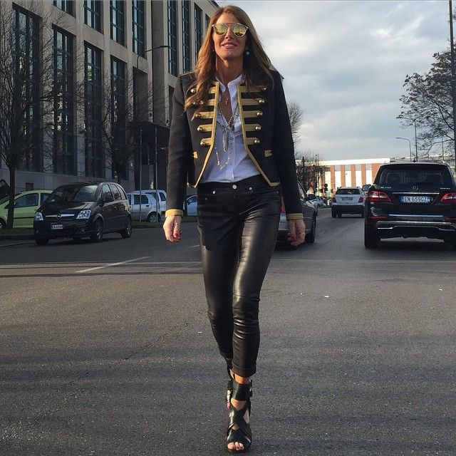 anna-dello-russo-saint-laurent-total-look-mmfw2015