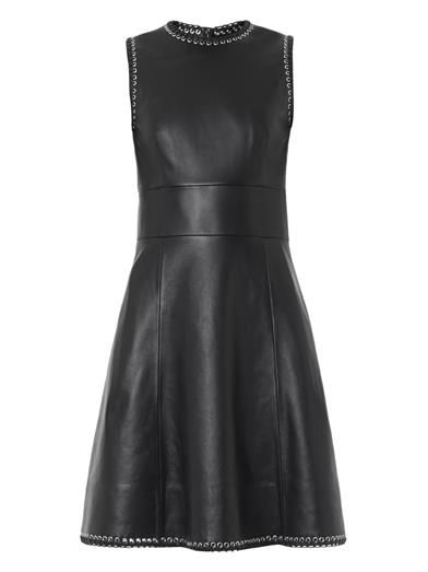 balenciaga-eyelet-embellished-leather-dress