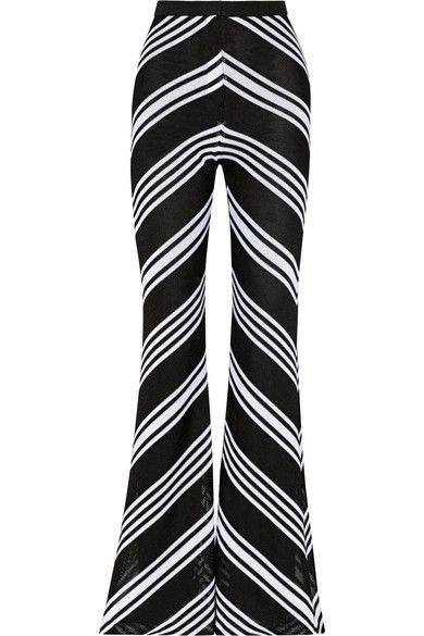 balmain-chevron-patterned-knitted-flared-pants