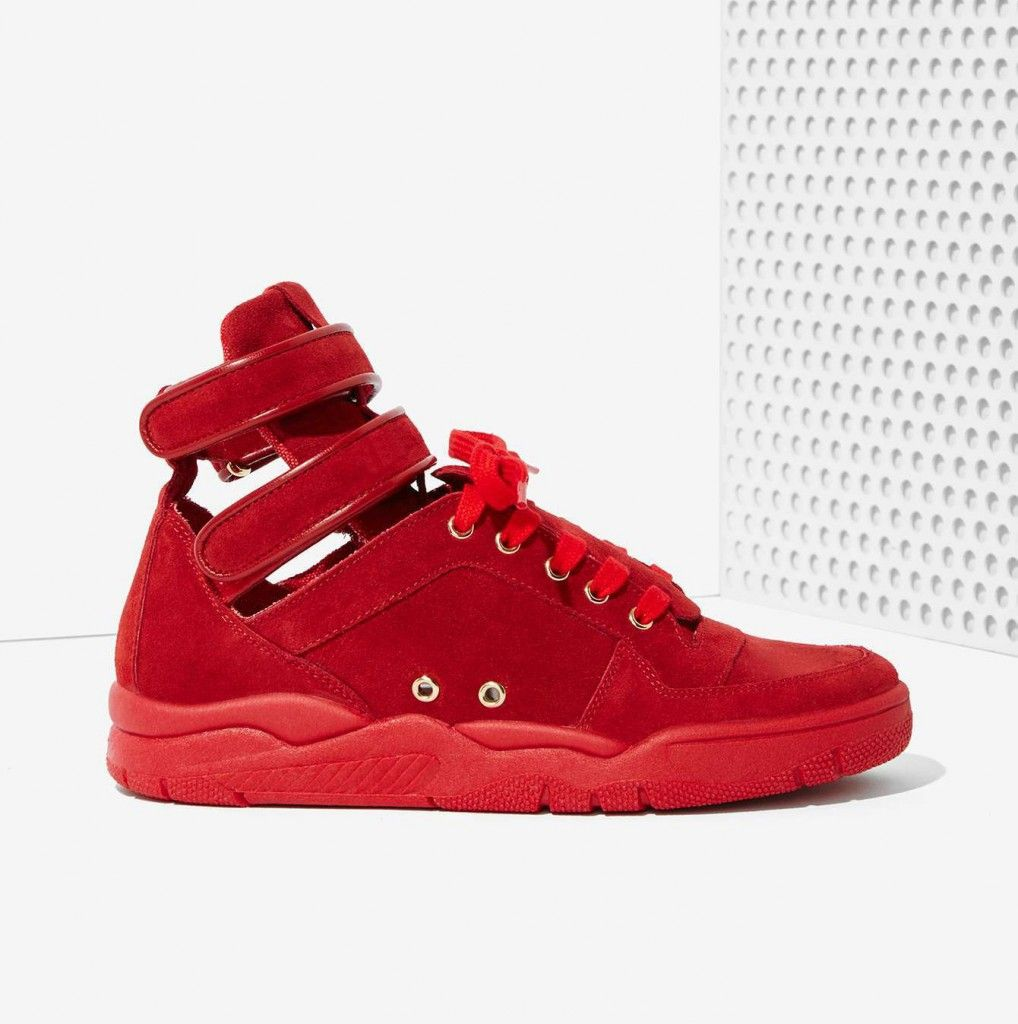 LAIA'S PICK: Chiara Ferragni Kimye red suede sneakers available at