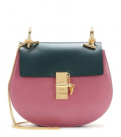 Chloé Drew faded rose textured leather bag available at MYTHERESA.com