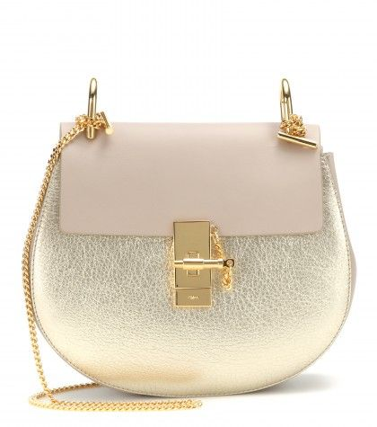 Chloé Drew Metallic leather shoulder bag