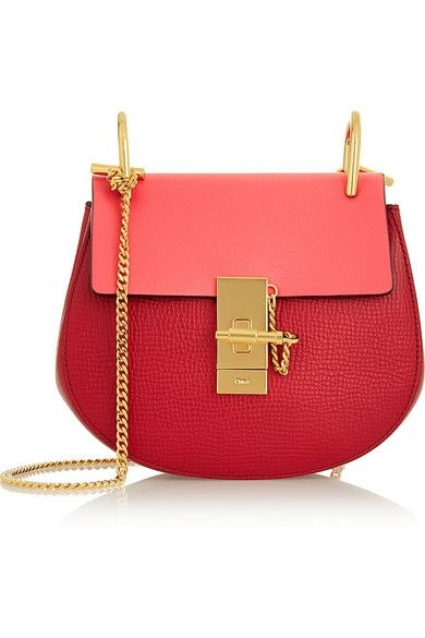 Drew mini textured-leather shoulder bag available at NET-A-PORTER