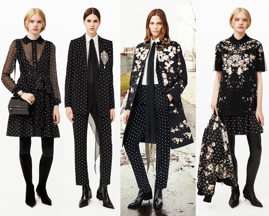 givenchy-pre-fall-2015-collection-polka-dot-outfits
