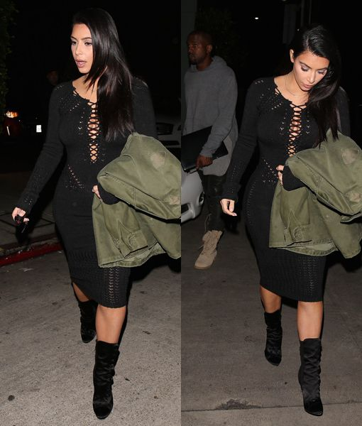 Kim Kardashian and Kanye grab dinner at Giorgio Baldi