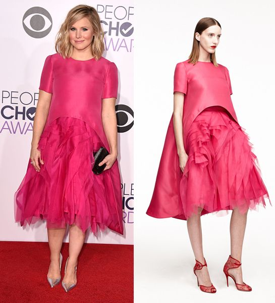 Kristen Bell in Monique Lhuillier Resort 2015