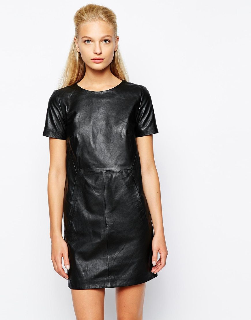 These Are The Leather Dresses Celebrities Wearing This