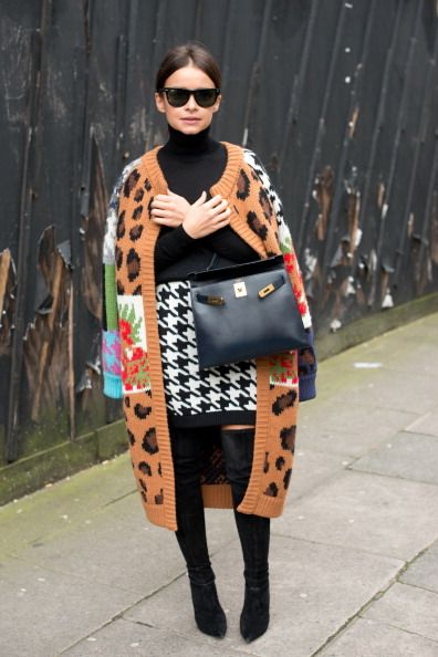 Miroslava Duma wore it first on day 4 of London Collections: Women on February 17, 2014.