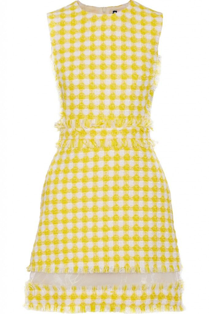 msgm-organza-trimmed-gingham-tweed-mini-dress