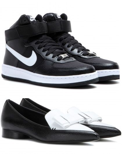 nike-sneakers-and-erdem-loafers-black-and-white-accessories