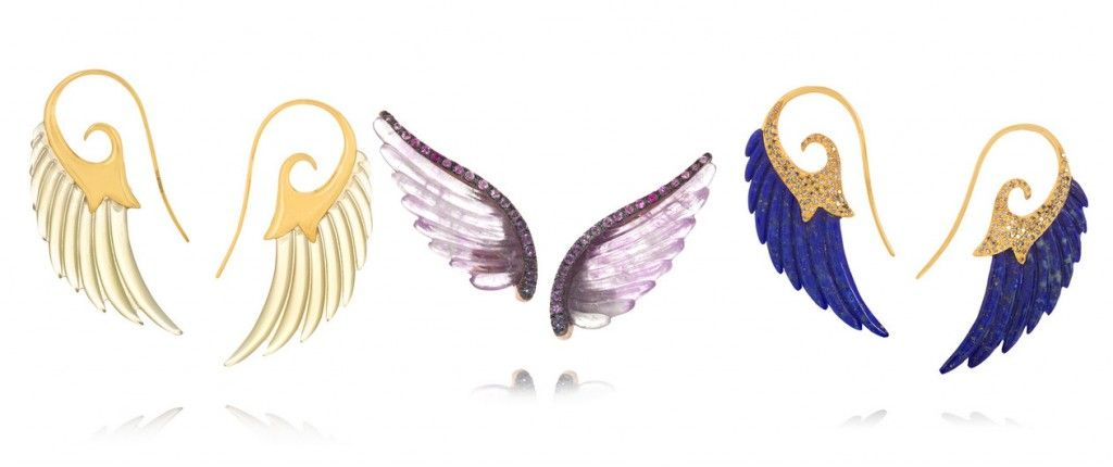 Wing 18-karat gold horn earrings available at NET-A-PORTER
