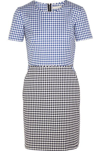 Richard Nicoll gingham mini dress available at NET-A-PORTER