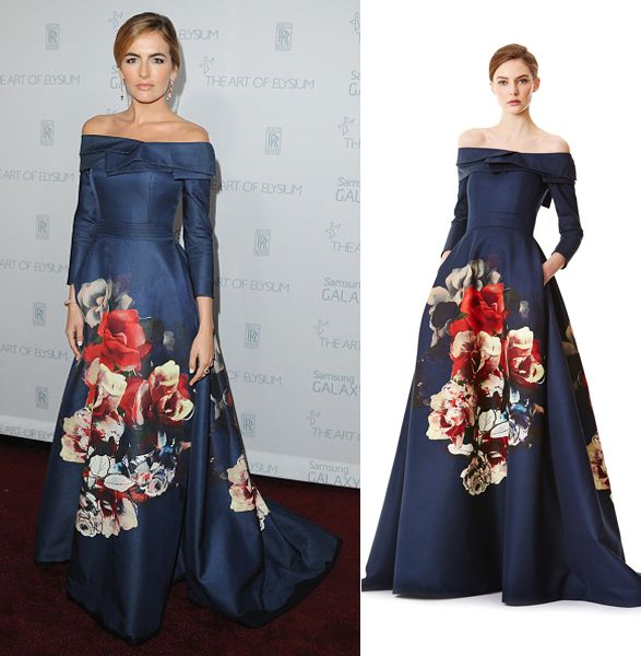 Camilla Belle in Carolina Herrera Pre-Fall 2015