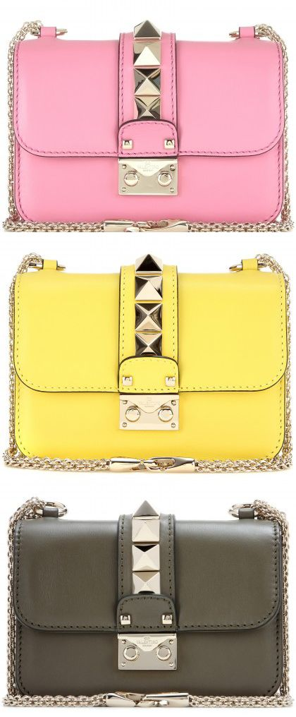 valentino-lock-mini-leather-pink-yellow-army-green-shoulder-bag