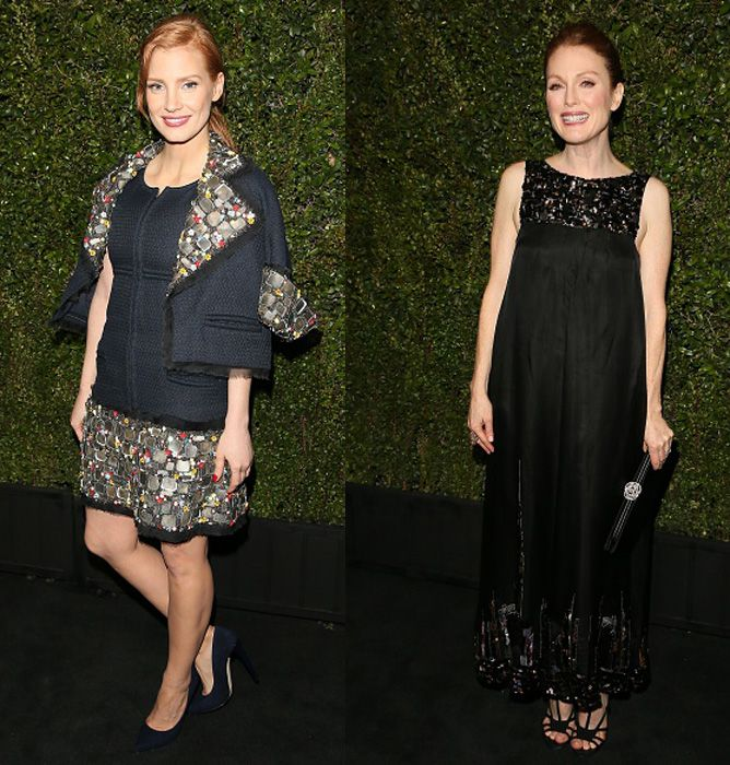Jessica Chastain and Julianne Moore
