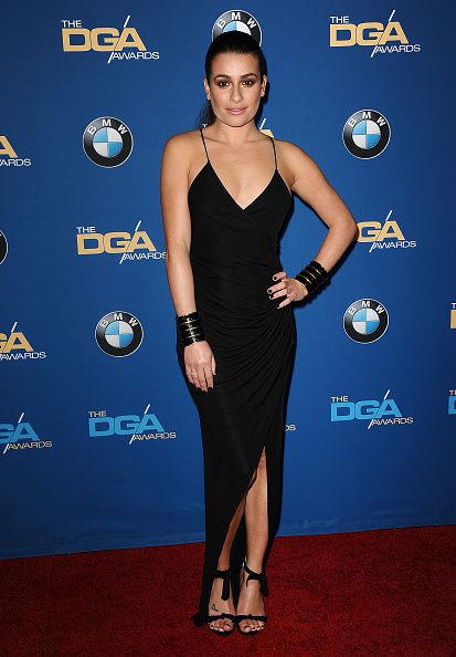 Lea Michele posing in the press room at the 67th annual Directors Guild of America Awards at the Hyatt Regency Century Plaza on February 7, 2015 in Los Angeles.