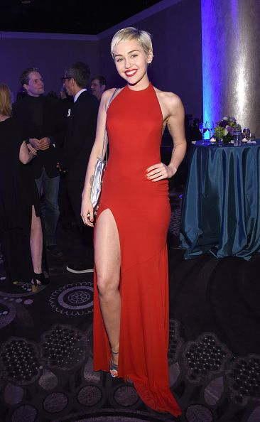 Miley Cyrus was in Alexandre Vauthier too at the Pre-GRAMMY Gala And Salute To Industry Icons Honoring Martin Bandier