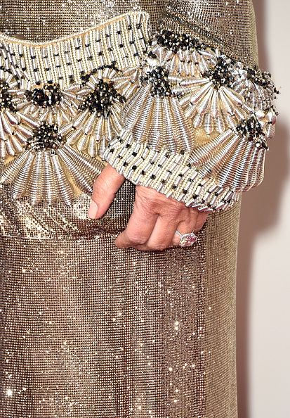 Detail of Kim's beautifully embellished robe