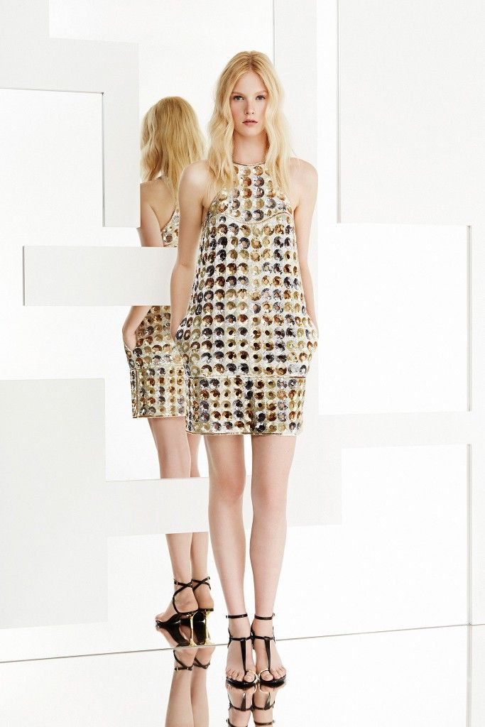 The dress is from Pucci's Resort 2015 collection