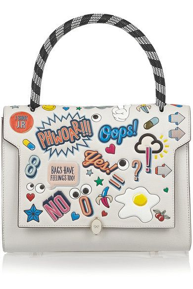 Anya Hindmarch All Over Stickers small shoulder bag available at NET-A-PORTER
