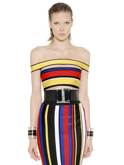 balmain-ss15-striped-jersey-crop-top-and-pencil-skirt