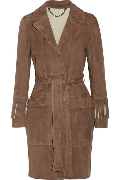 Belstaff fringed suede coat available