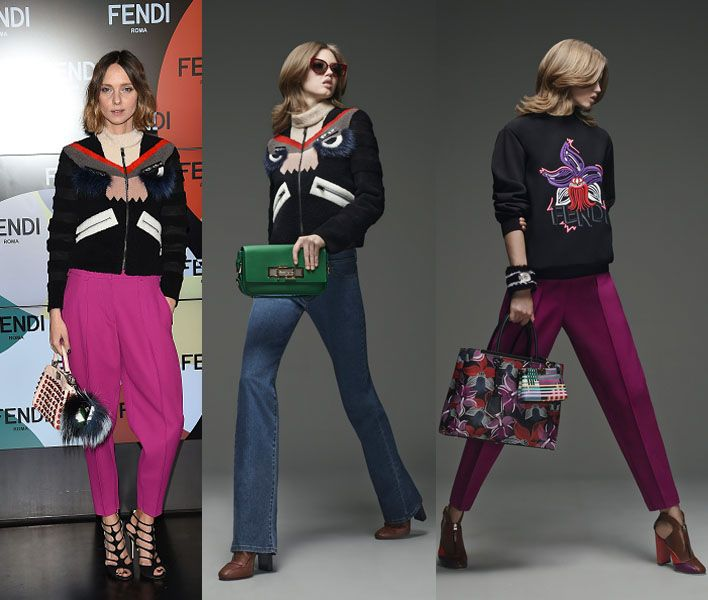 Candela Novembre in Fendi Pre-Fall 2015