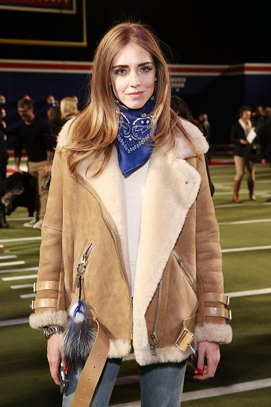 Chiara Ferragni at the Tommy Hilfiger FW15 Fashion Show at Park Avenue Armory on February 16, 2015 in New York City.