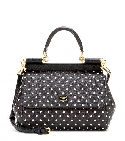 Dolce & Gabbana Miss Sicily polka dot printed leather tote