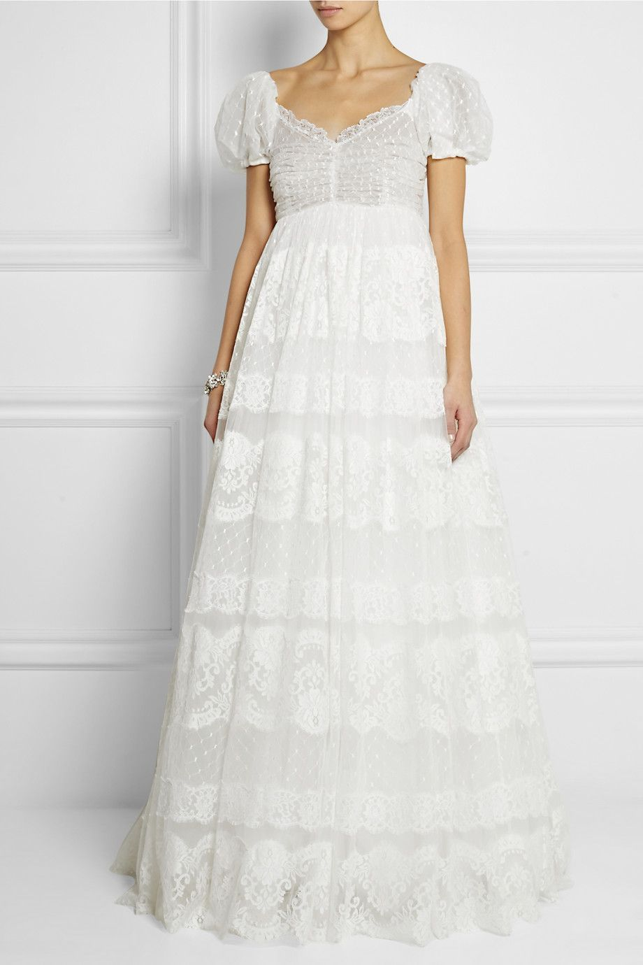 Would you get married in this Dolce & Gabbana lace-appliquéd ...