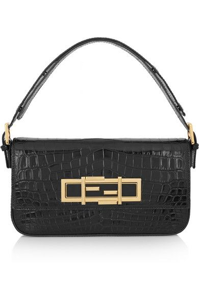 Fendi baguette Crocodile shoulder bag available at NET-A-PORTER