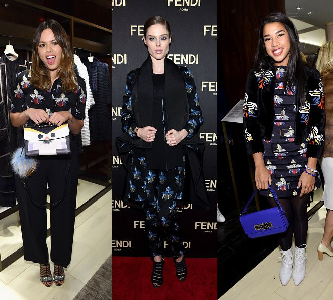 Atlanta de Cadenet, Coco Rocha and Hannah Bronfman in Fendi SS15