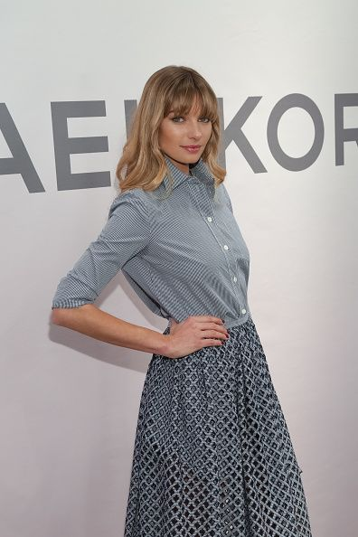 You can buy Jessica Hart's gingham cotton shirt from NORDSTROM