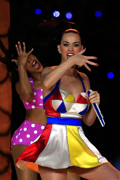 Katy's looks were all by Moschino