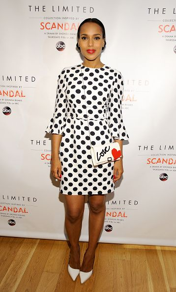 Kerry Washington in Dolce & Gabbana SS15 at the Limited Collection Inspired by Scandal Spring Shopping Event on February 3, 2015 in Glendale, California