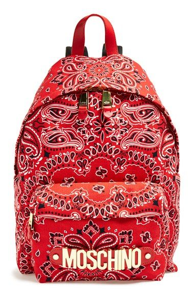 Moschino bandana print canvas backpack available at NORDSTROM