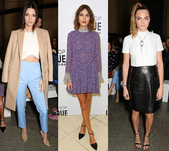 Kendall Jenner, Alexa Chung and Cara Delevingne hit the front row at the TopShop Unique FW15 Fashion Show