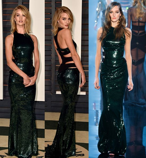 Rosie Huntington-Whiteley in Alexandre Vauthier Couture SS15