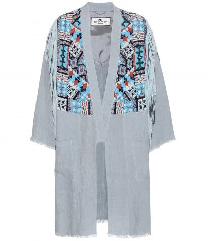 Etro embellished linen coat available at MYTHERESA.com