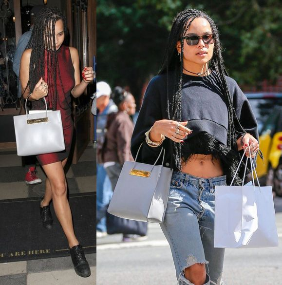 Zoe-Kravitz-Balenciaga-Cable-Strap-Medium-Shopper-Bag