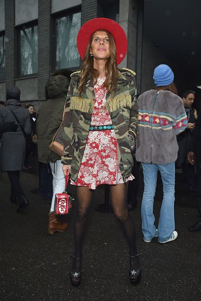 anna-dello-russo-saint-laurent-camouflage-print-cotton-jacket-mfw-fw15-street-style