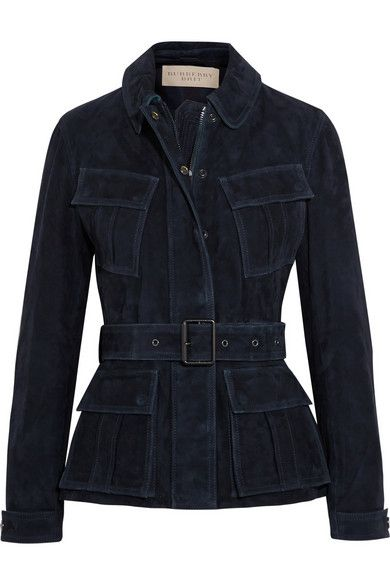 Burberry Brit belted suede jacket available at NET-A-PORTER