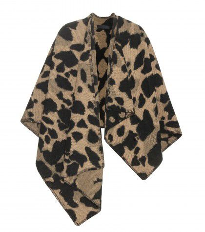 Animal print wool and cashmere blend cape available at MYTHERESA.com