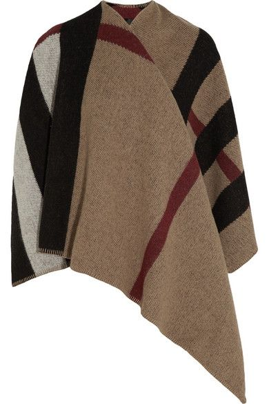Burberry Prorsum Checked wool and cashmere-blend checked cape available at NET-A-PORTER