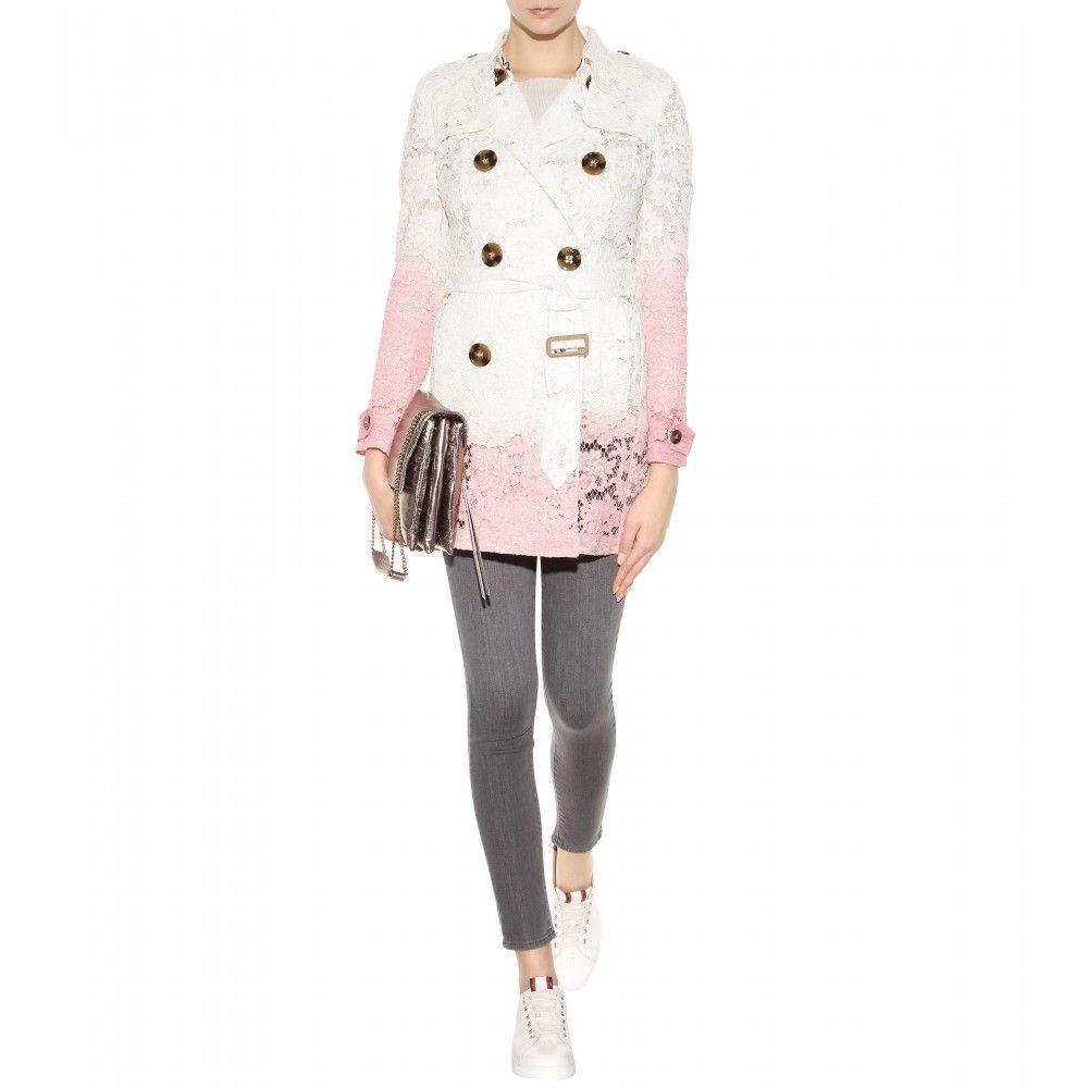 Burberry Prorsum lace trench coat available at MYTHERESA.com