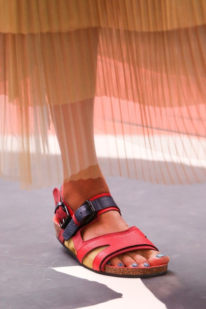 Burberry Prorsum color-block textured-leather sandals available at NET-A-PORTER