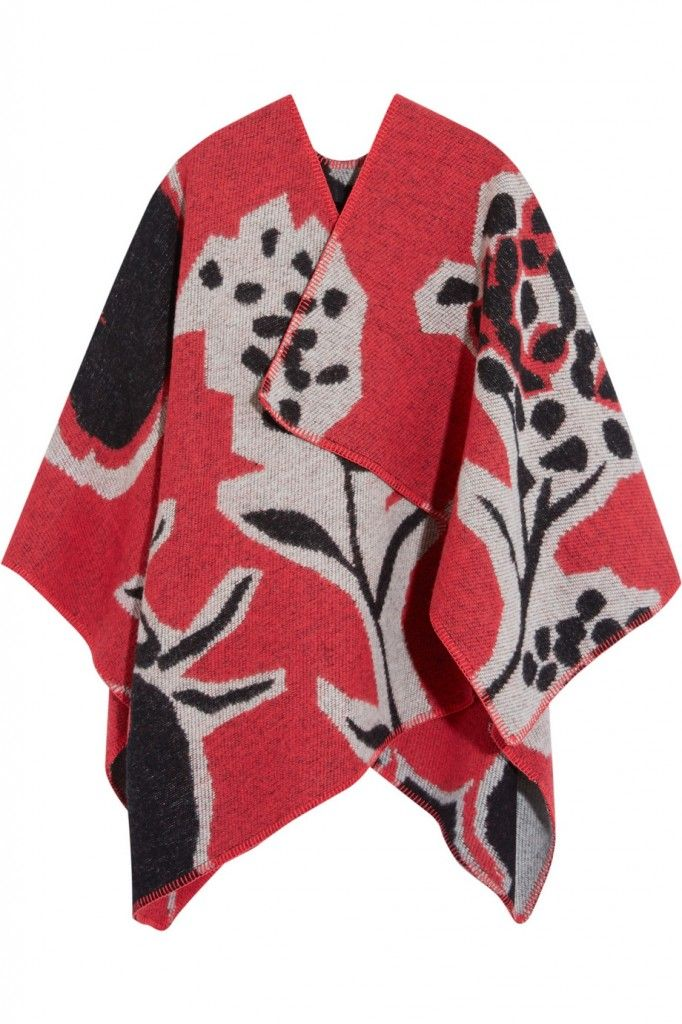 Burberry Prorsum wool and cashmere-blend wrap available at NET-A-PORTER